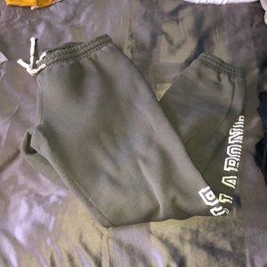 Billabong green sweatpants